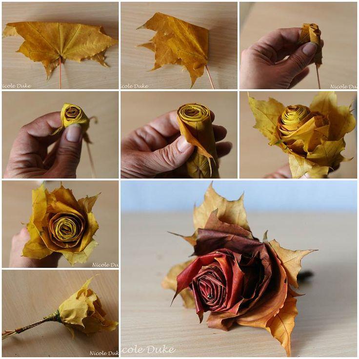 Ruže od lišća