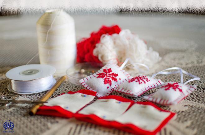 Novogodišnji ukrasi od filca - potreban materijal