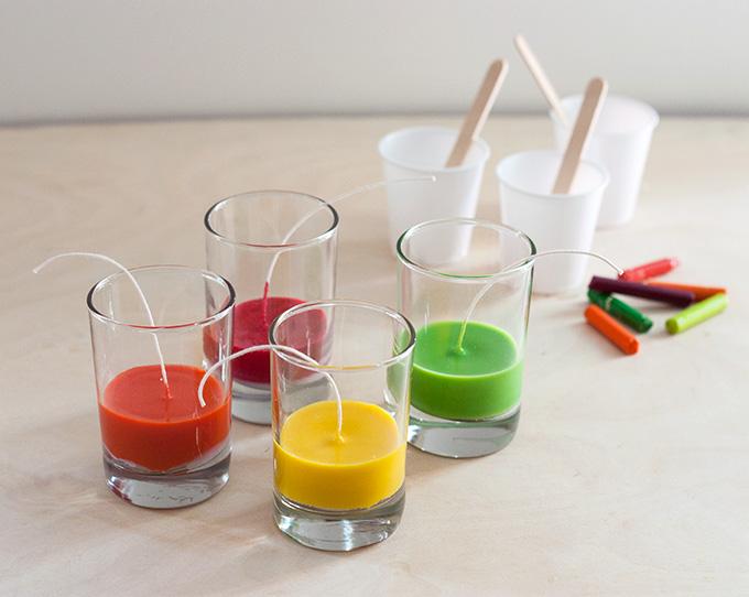 slaganje boja - sveća