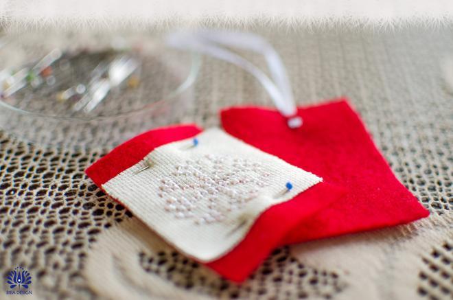 Novogodišnji ukrasi od filca - izrada1