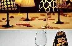 čaša za vino lampa - materijal