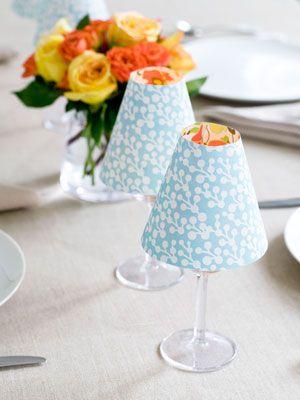čaša za vino kao lampa