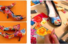 dekupaž na cipelama