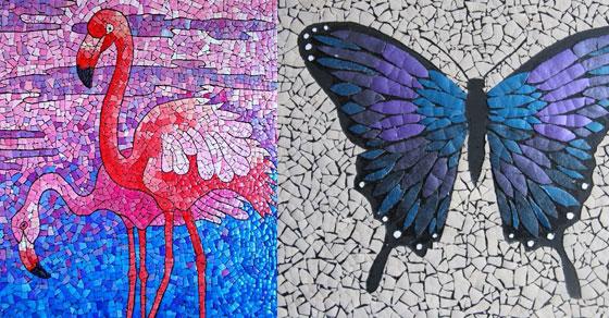 Mozaik sa ljuskama od jaja