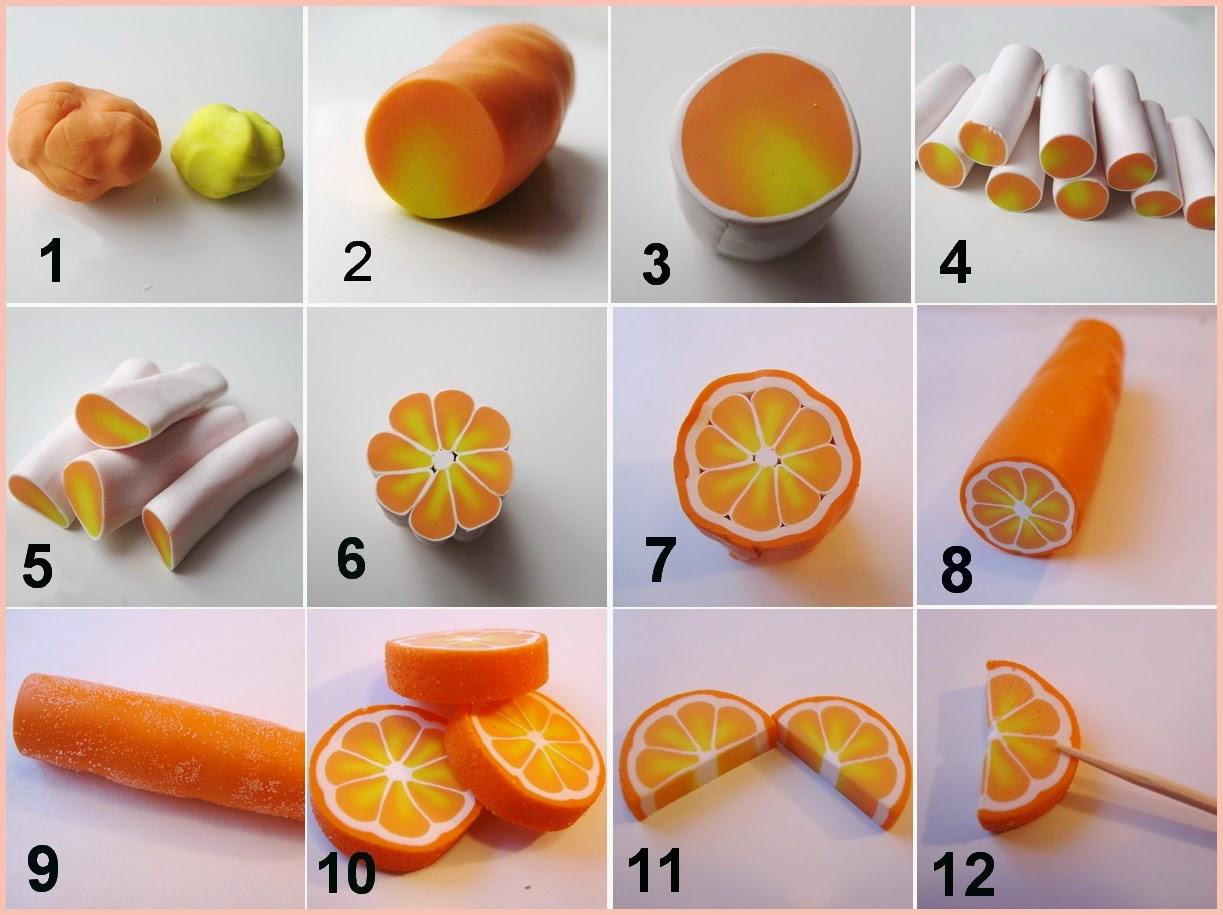 Ukrasi od polimerne gline-narandža
