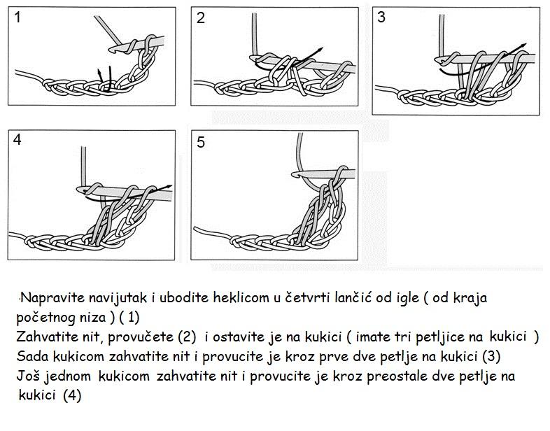 šema za heklanje visoki stubić