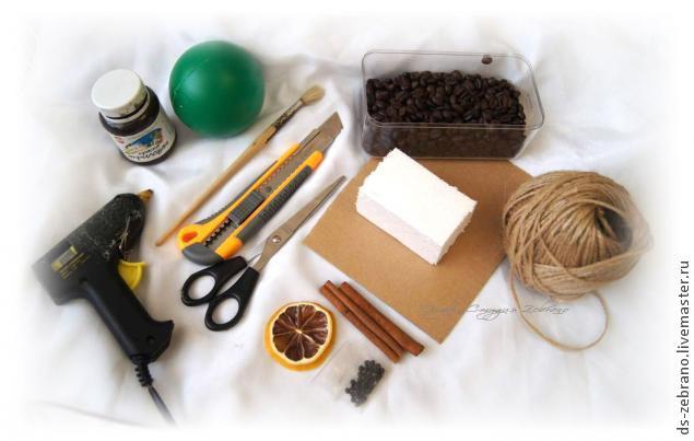 Aromatični jež - uradi sam: potreban materijal