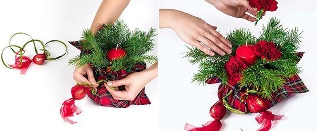 Božićne dekoracije sveća - uradi sam.