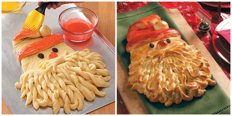 Hleb zlatni deda Mraz: postupak izrade.