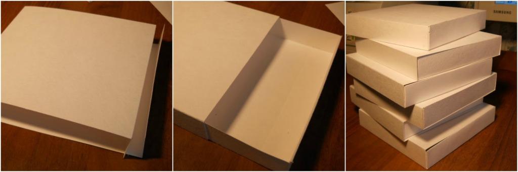 Komoda od papira i kartona - postupak izrade.