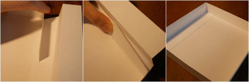 Komoda od papira i kartona.