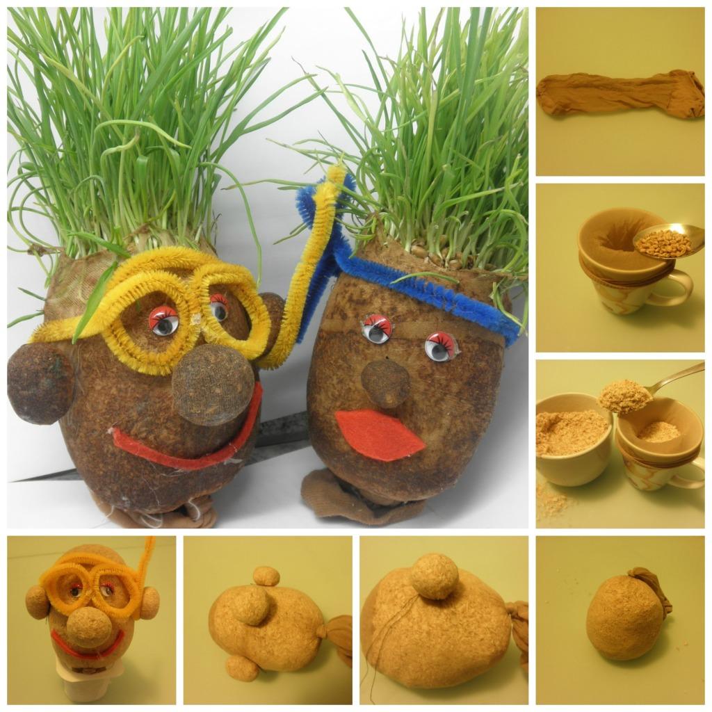 Kreativna božićna pšenica - čovečuljak.