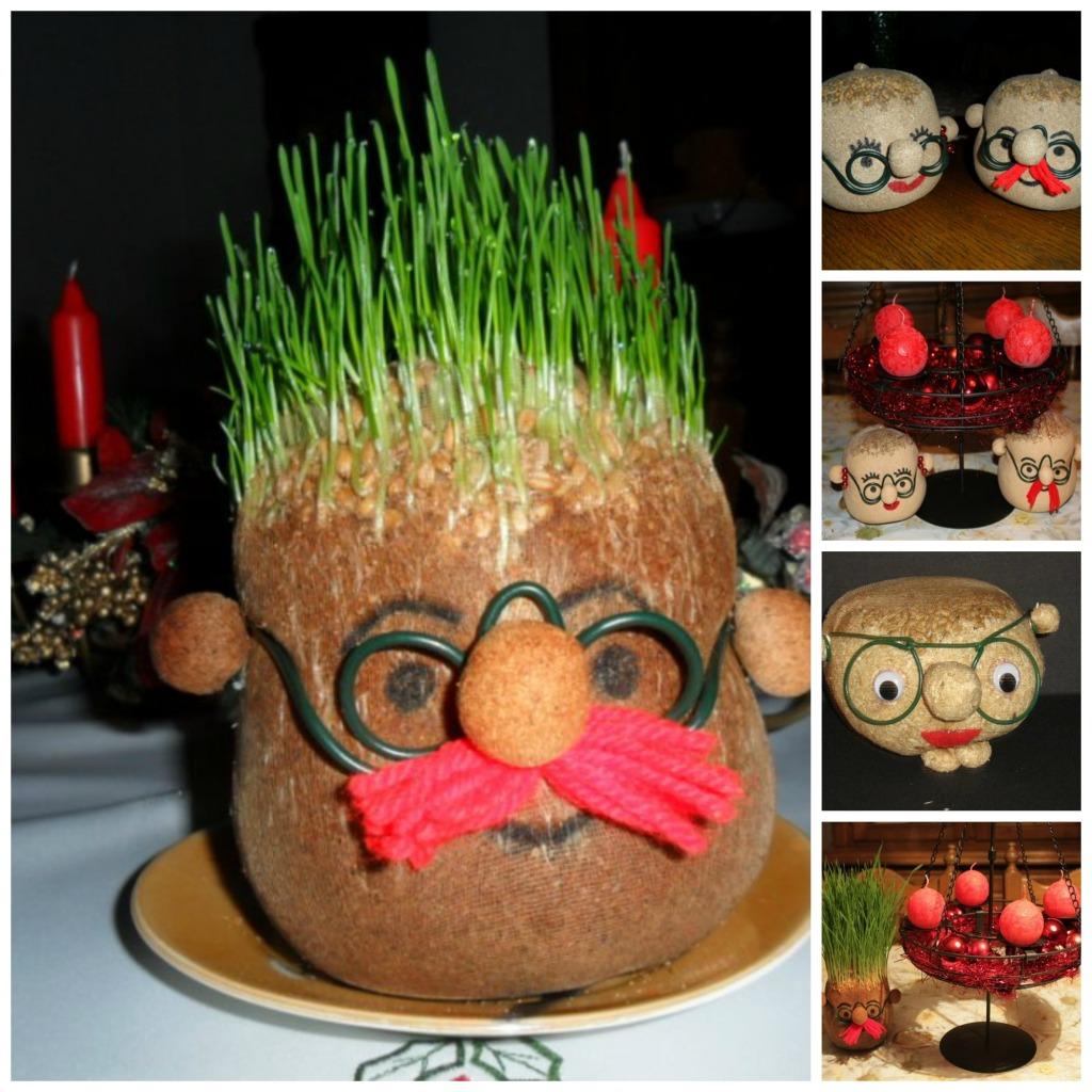 Kreatvina božićna pšenica - čovečuljak.