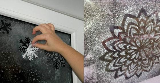 Novogodišnje pahulje na prozoru