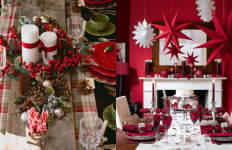 novogodisnja dekoracija stola