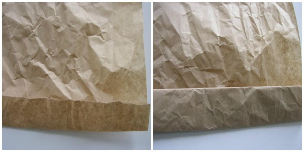 Papirna kesa kao dekorativna činija-izrada.