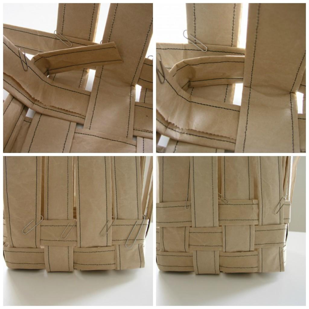 Papirna kesa kao dekorativna činija za čuvanje vunice - izrada.