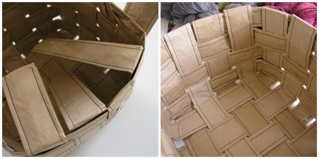 Papirna kesa kao dekorativna činija za čuvanje vunice - završni deo.
