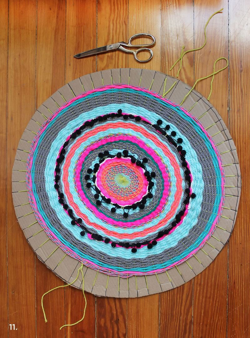 DIY kružni tkani tepih - potreban materijal.