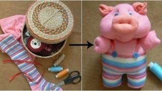 Prase od dečijih čarapa DIY (uradi sam) - Moj.Ručni.Rad