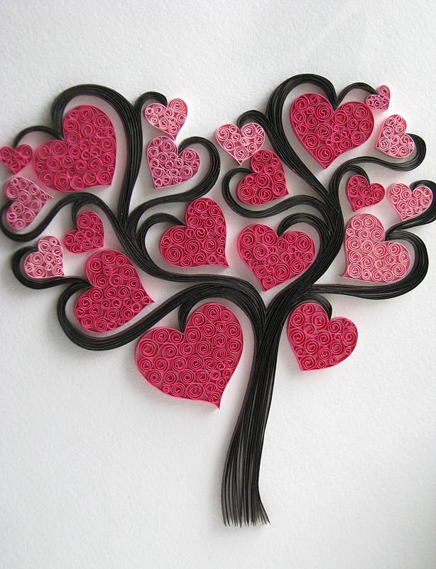 quilling ljubavne čestitke