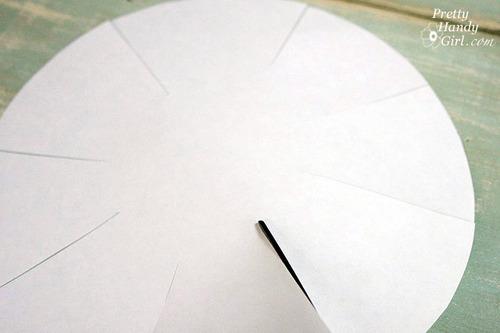 Dekoracija tanjira dekupaž tehnikom: zasecanje papira.