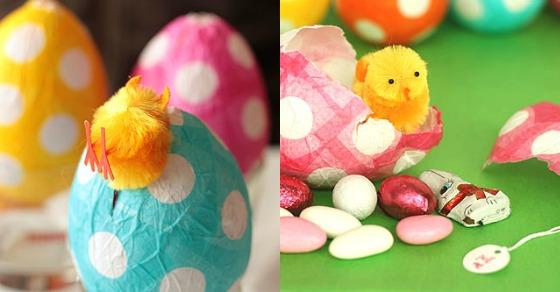 Dekorativna punjena uskršnja jaja - papir maše