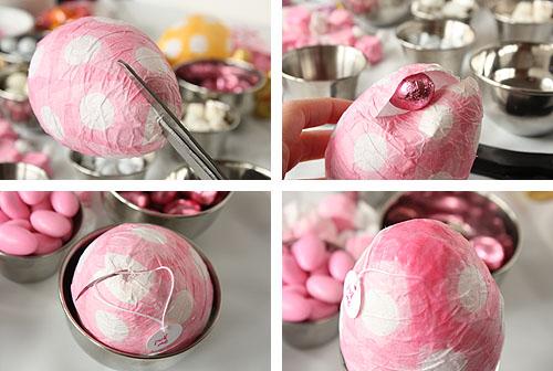 Dekorativna punjena uskršnja jaja - papir maše: izrada.