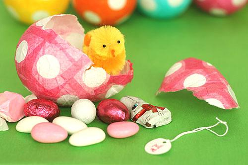 Dekorativna punjena uskršnja jaja - papir maše.