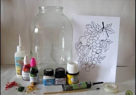 Oslikavanje tegli - DIY: potreban materijal.