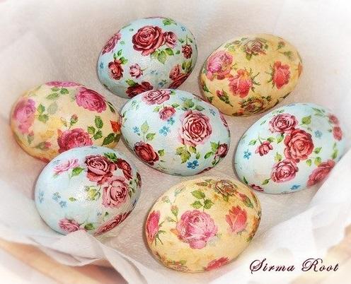 uskršnja jaja dekupaž