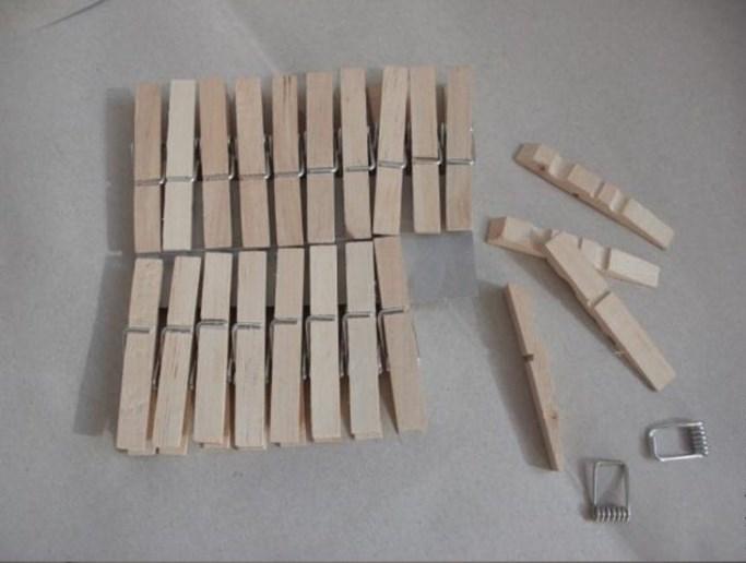 Rastaviti drvene štipaljke.