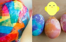 farbanje jaja krep papirom h
