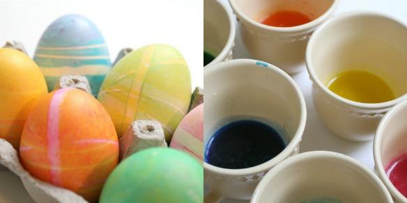 farbanje jaja sa gumicama