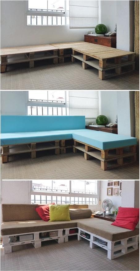 3 sjajne ideje od paleta: Garnitura od paleta.