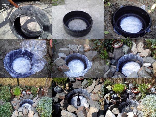 Ideje za kuću od stare gume - DIY: fontana za dvorište.