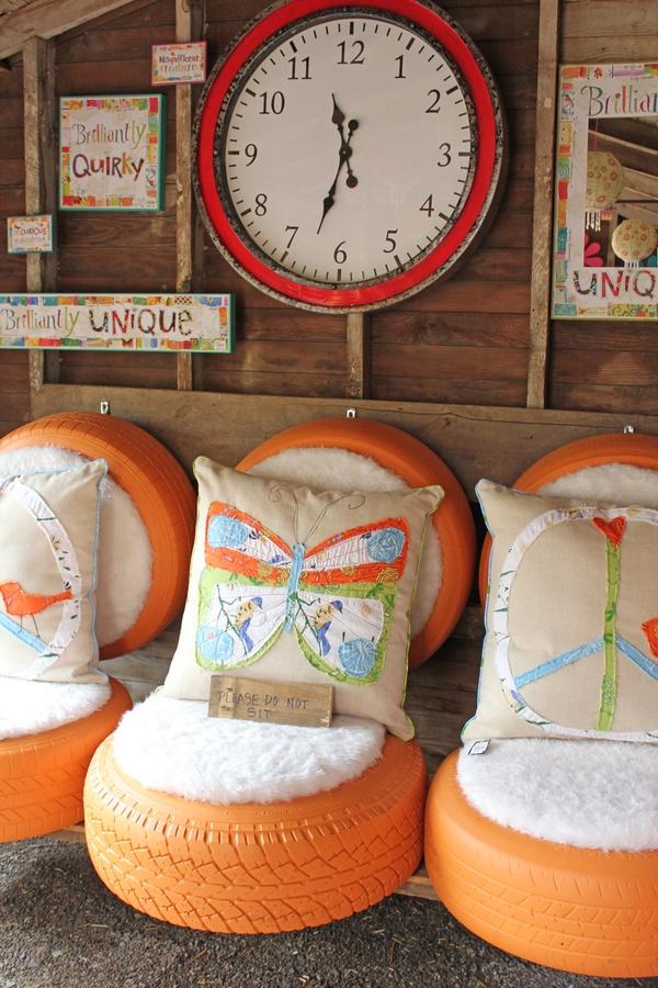 Ideje za kuću od stare gume - DIY: fotelja.