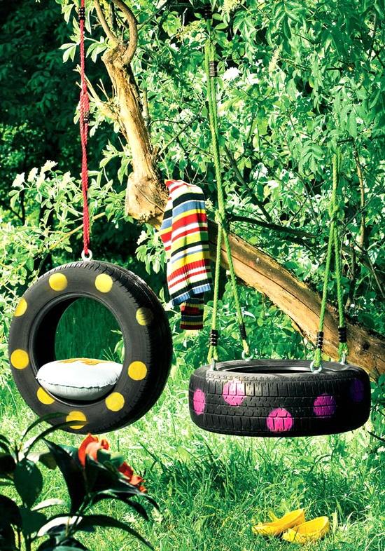 Ideje za kuću od stare gume - DIY: ljulje.