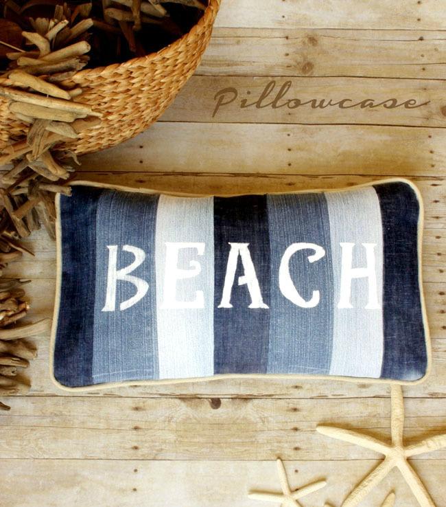 Jastuk za plažu od starog jeansa - DIY (uradisam).