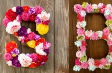 Dekorativna slova od cveća - Moj ručni rad.
