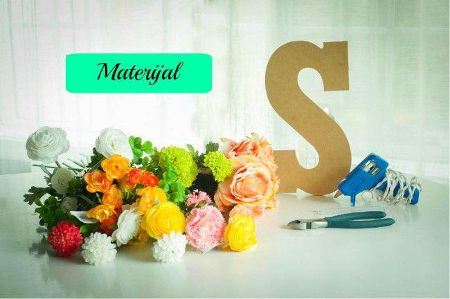 Dekorativna slova od cveća: potreban materijal.