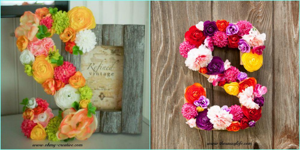 Dekorativna slova od cveća.