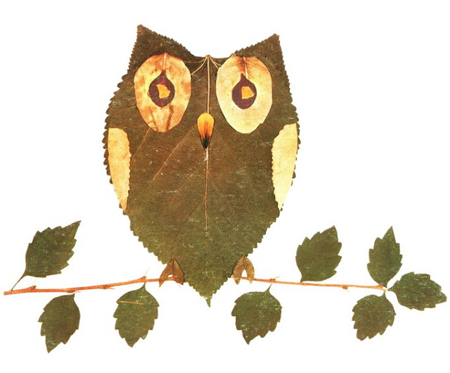 Kreativna radionica za decu od jesenjeg lišća: sova