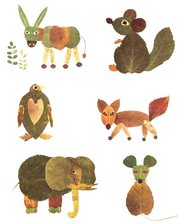 Kreativna radionica za decu od jesenjeg lišća: životinje.