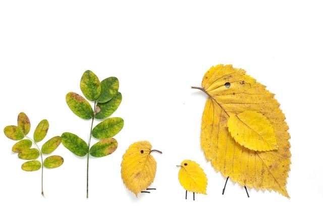 Kreativna radionica za decu od jesenjeg lišća: pile