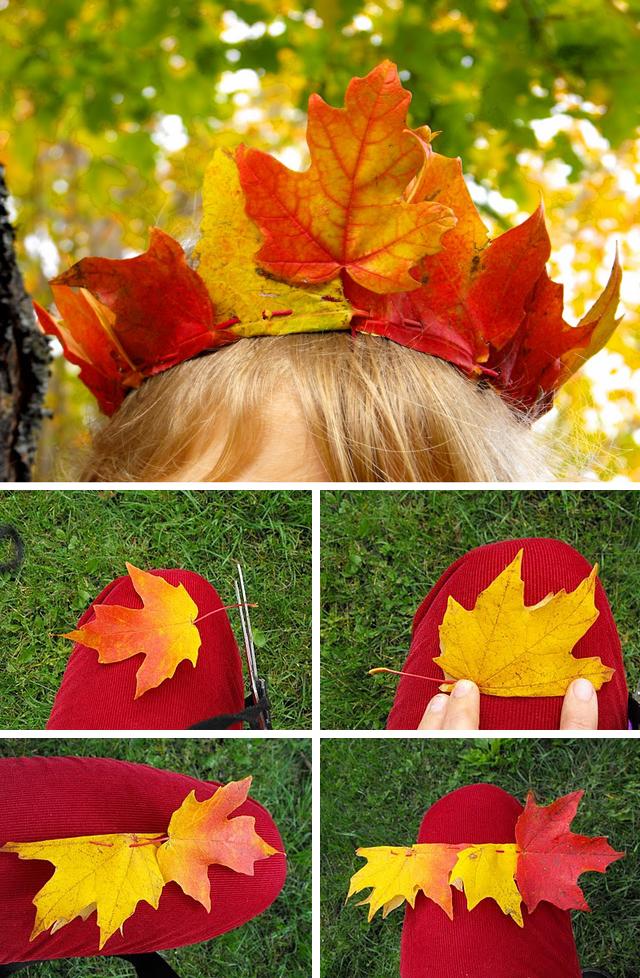 Maske od jesenjeg lišća.