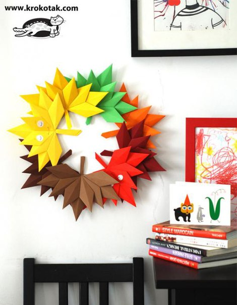 Origami lišće