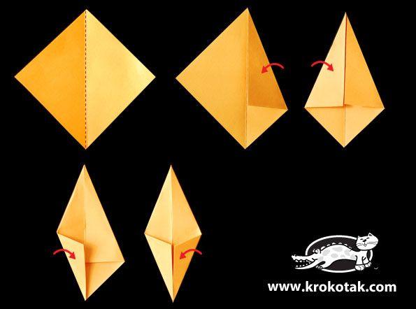 origami lišće 1