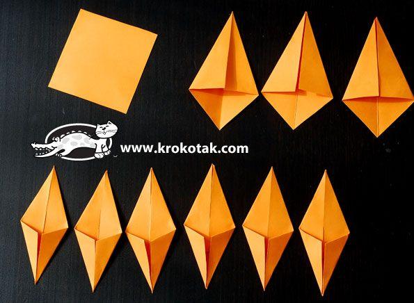 origami lišće 2
