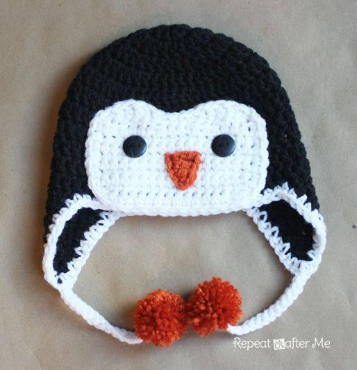 Novogodišnja kapica - pingvin